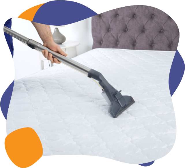 A mattress being cleaned by an enviropure home cleaning specialist